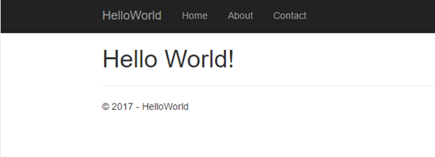 Hello World Browser View not azure