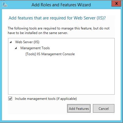 Server Select Roles dialog